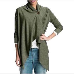 Bobeau Signature Sweater Cardigan Clover Green